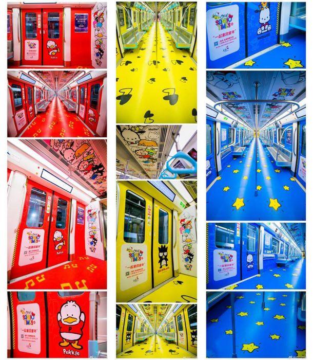 В Китае запустили поезд метро, оформленный в мультипликационном стиле (фото)