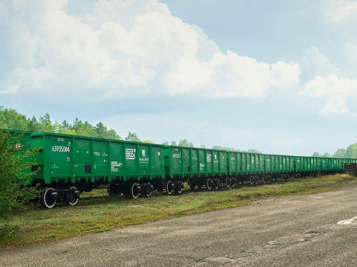 Полувагоны BGS Rail, произведенные на Попаснянском ВРЗ