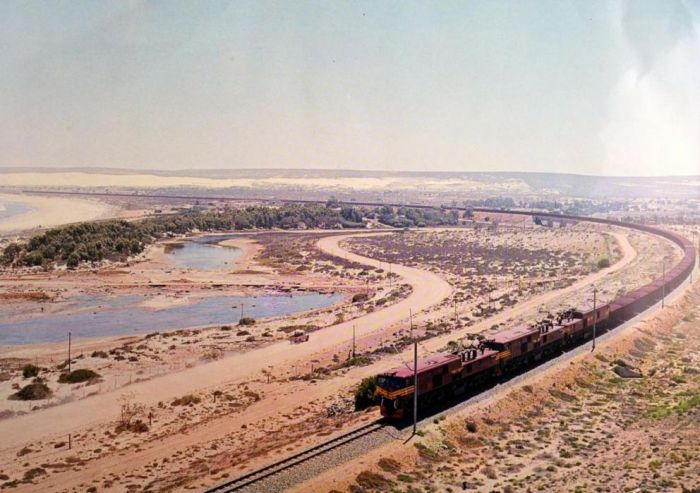 Freight Train on the Sishen Line - Source Unknown - Peter Ball collection