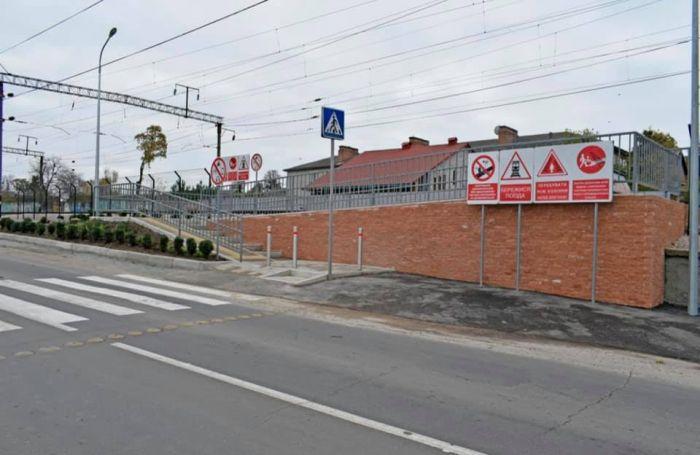 На станции Жмеринка открыли лабиринтный переход через ж/д пути с LED-освещением и видеокамерами (фото), фото-5