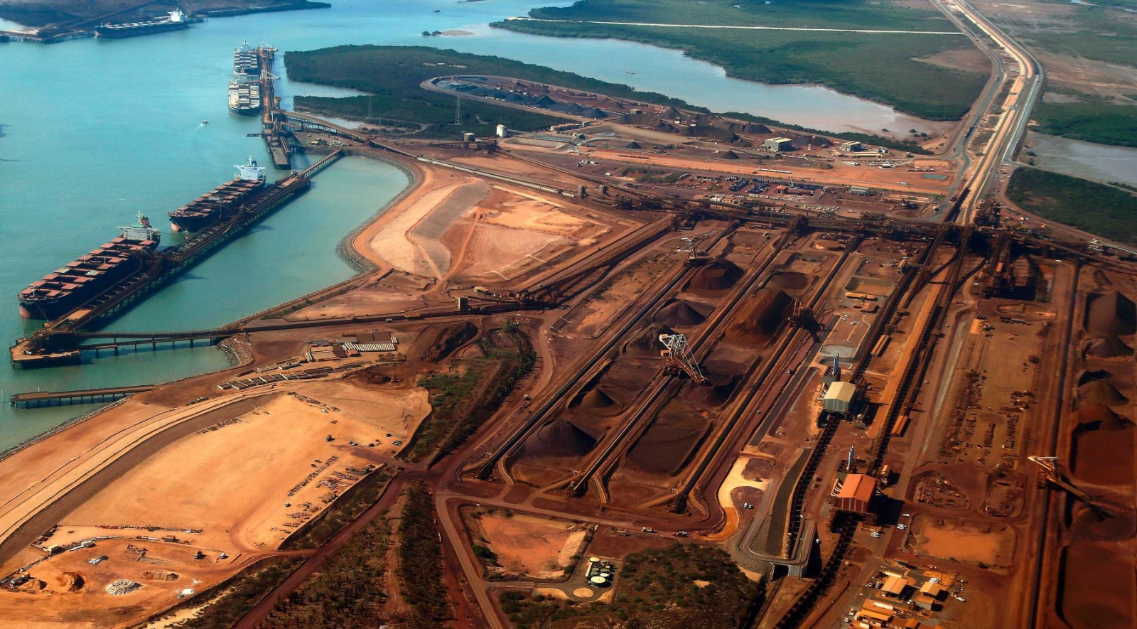 australia s port hedland iron ore exports Iron-ore shipments from australia's port hedland fell 83 per cent on-month in january, although they were sharply higher than the year-earlier period, according to latest data from the local port authority exports of the steelmaking commodity leaving port hedland, the world's largest iron-ore.