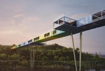 В Израиле обсуждается строительство моста из металлических контейнеров