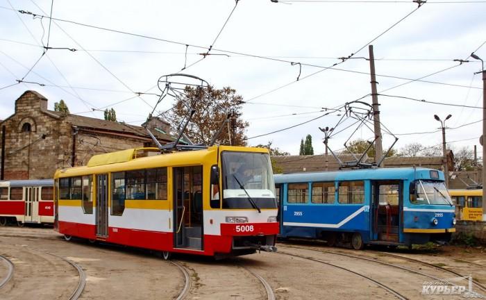 В Одессе не работают три трамвайных маршрута